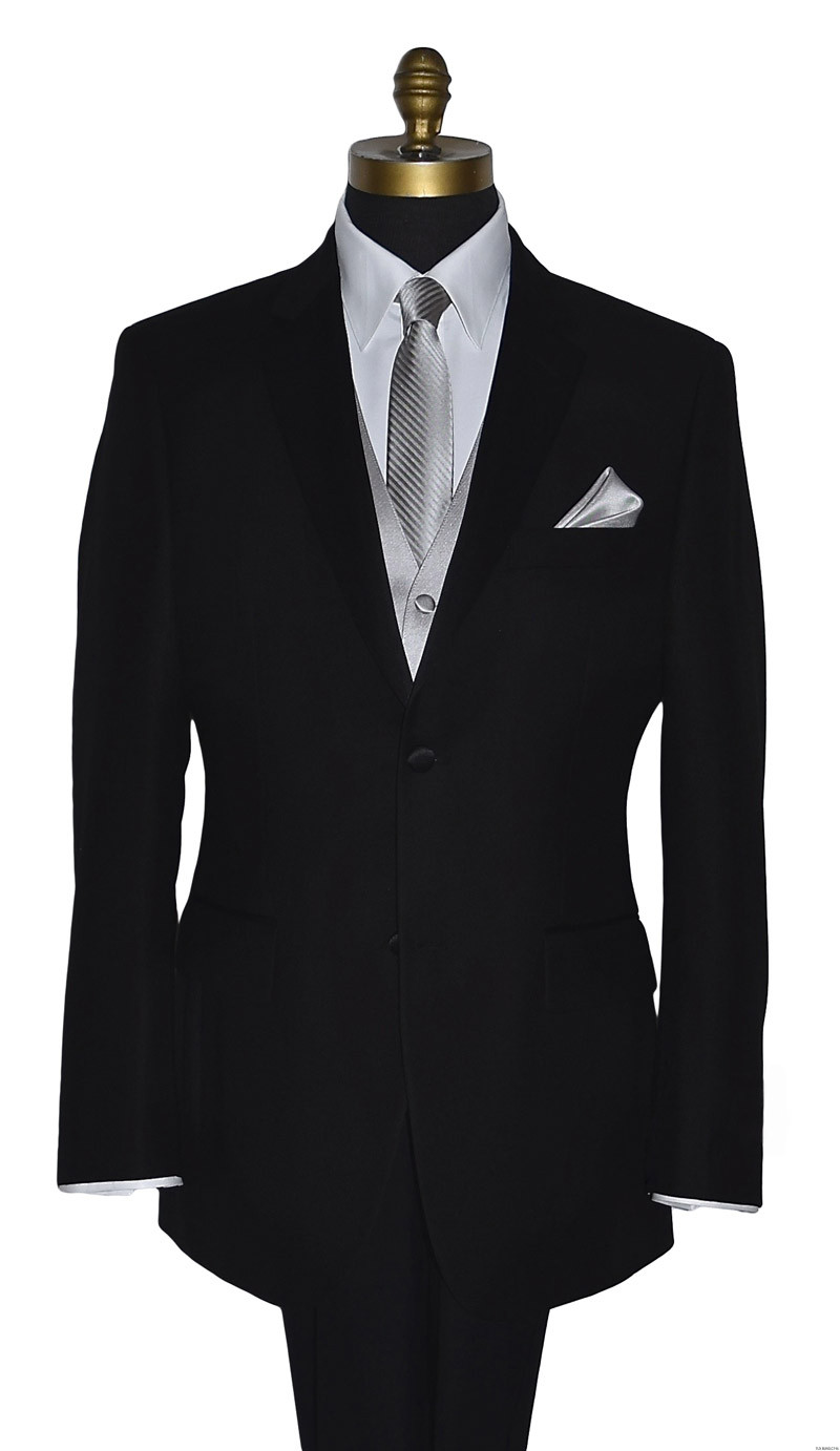moonlight long dress tie with moonlight vest and pocket square by San Miguel Formals