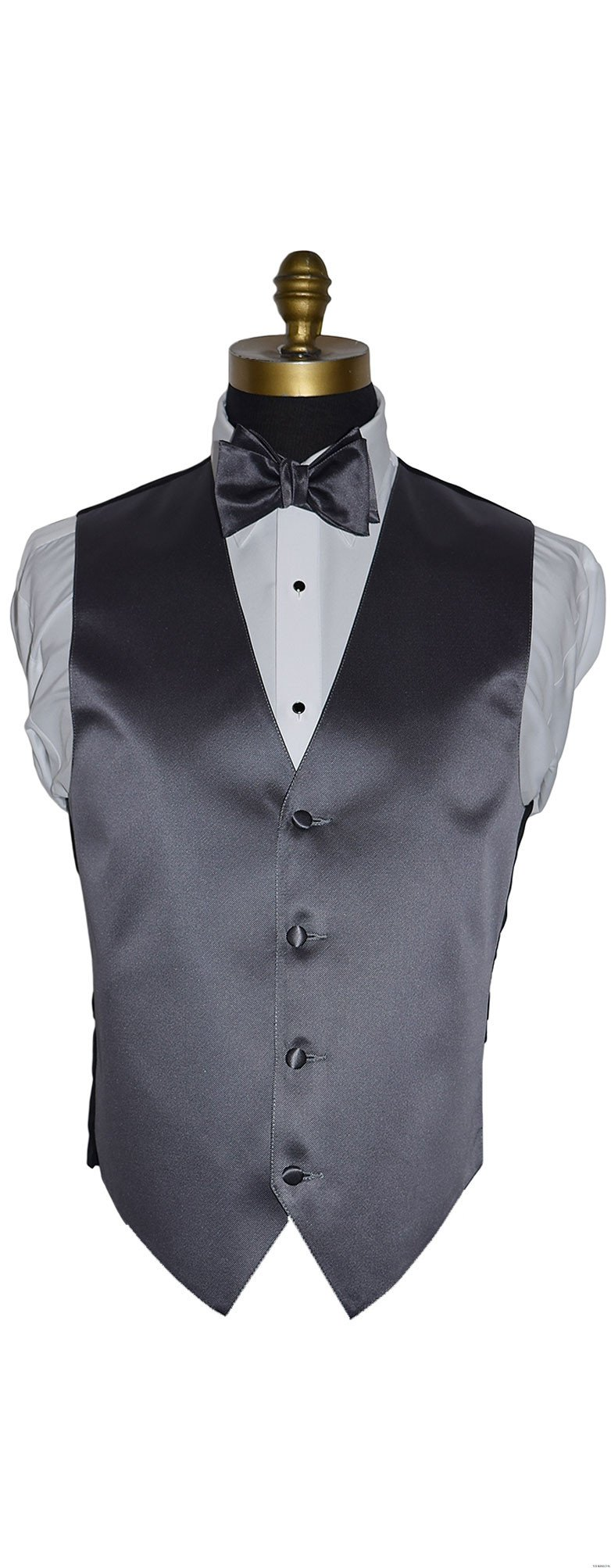 men's and boy's charcoal vest and bowtie by San Miguel Formals