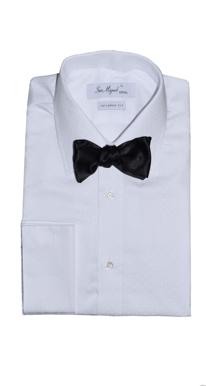 San Miguel white slim fit tuxedo shirt