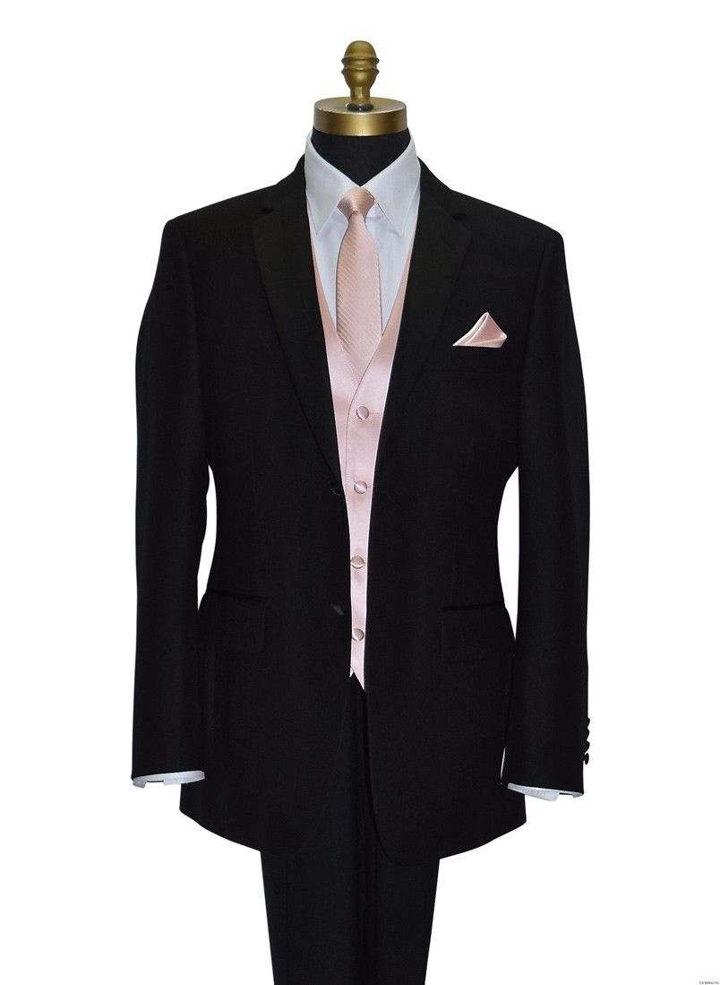 blush tie and vest for blush bridal by San Miguel Formals