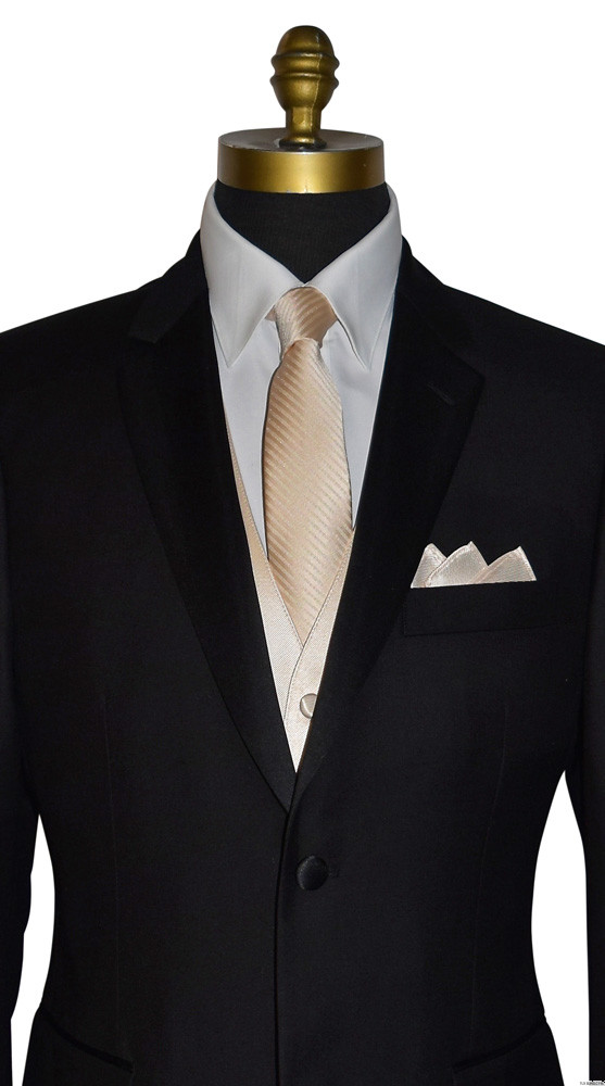 men's and boy's long champagne dress tie for champagne bridal