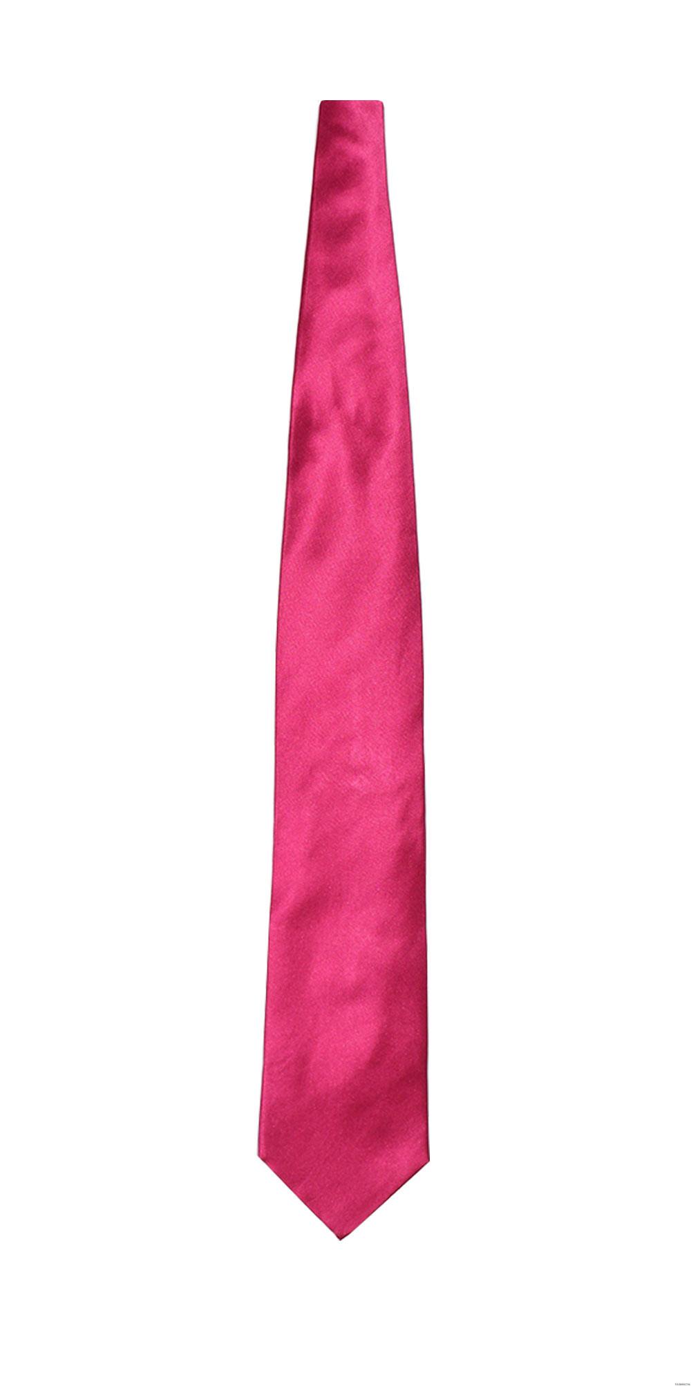 men's hot pink long dress tie at Tuxbling.com
