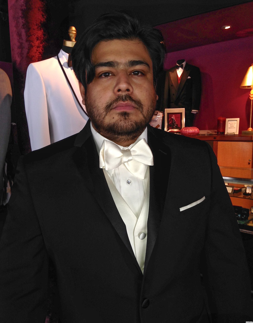 ivory satin vest and bowtie for grooms and weddings on tuxbling.com