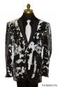 Black and White Deluxe Sequins Tuxedo Ensemble