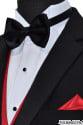 red tuxedo vest with black bowtie on tuxbling.com
