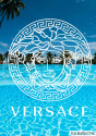 VERSACE NAVY SUIT WITH WHITE TRIM AND WHITE PANTS