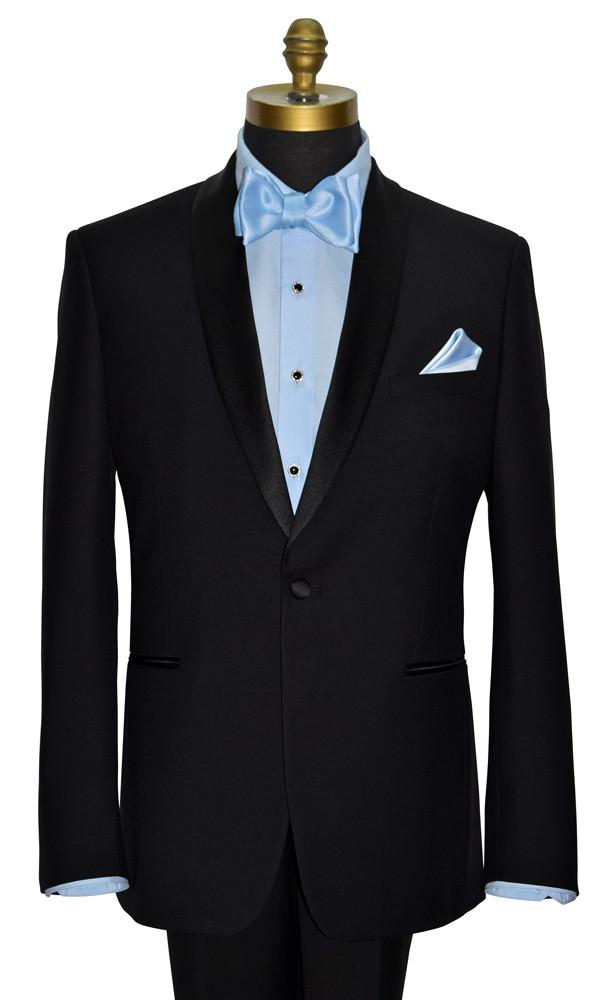 tux bling blue tuxedo shirt